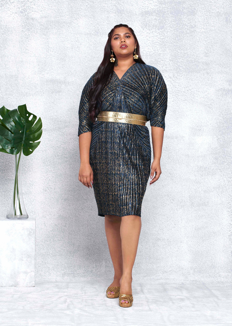 Cleopatra Dress - Midnight Blue & Gold