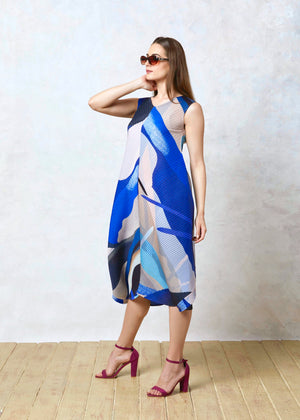 Multicoloured Issey Dress - Blue