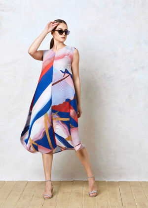 Multicoloured Issey Dress - Pink