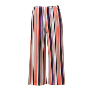 Aria Stripe Pants - Orange