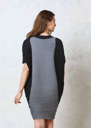Batwing Dress - Grey & Black