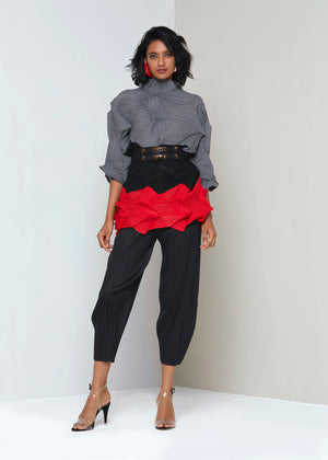 Felicity 3D Top - Grey Black Red