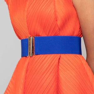 Basic Clasp Elastic Belt - Royal Blue