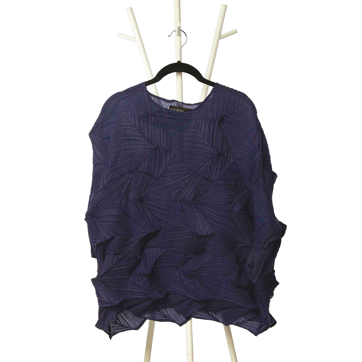 3Dimensional Pleated Top - Navy Blue