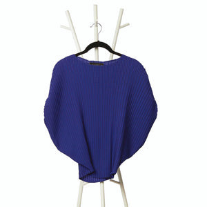 Soft Pleated Round Top - Royal Blue