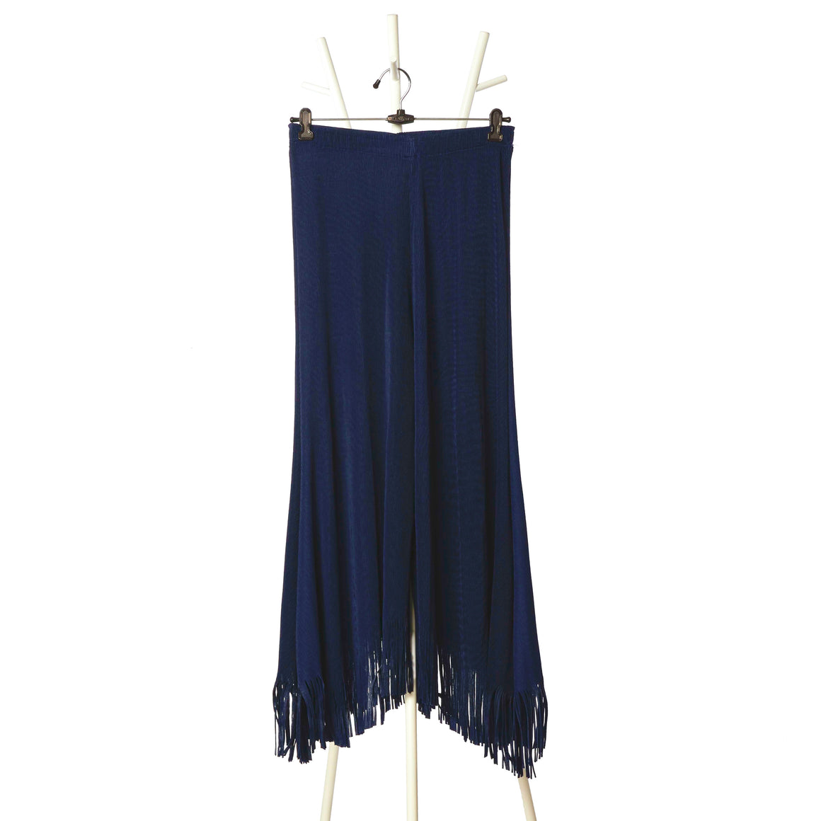 Fringed Pants - Navy