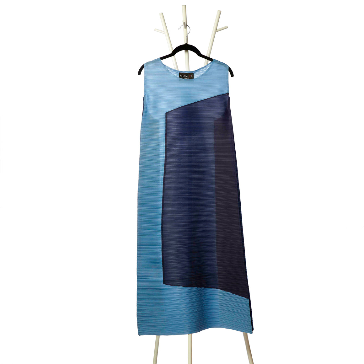 2 Tone Square Dress - Blue