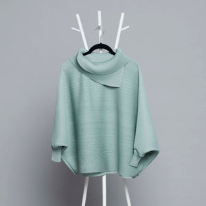 Batwing Turtleneck Top - Sage Green