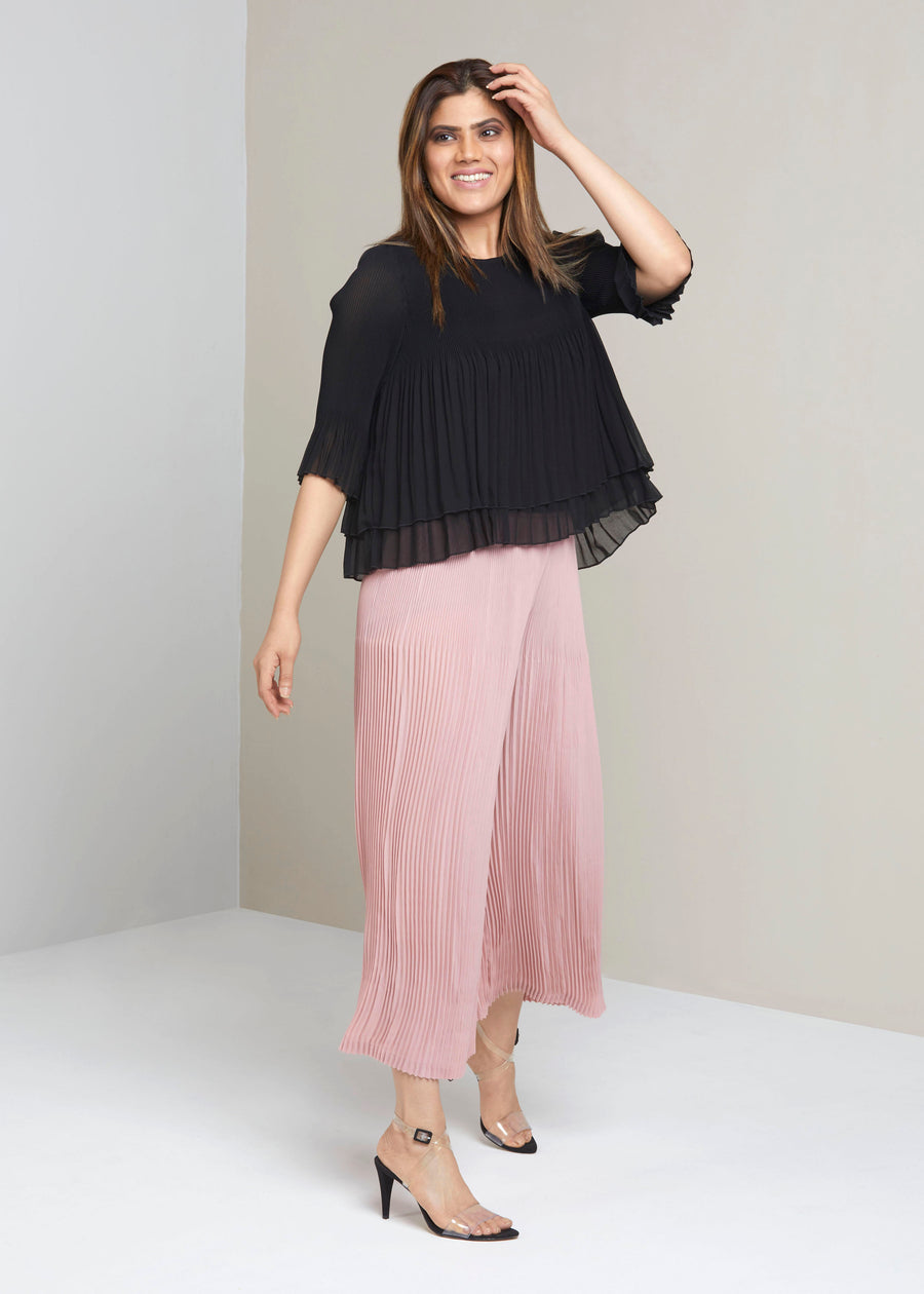 Pleated Lounge Pants - Pale Pink