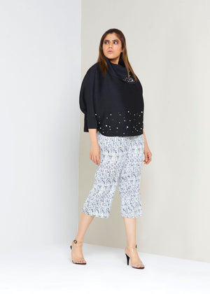 Marbled Culottes - White