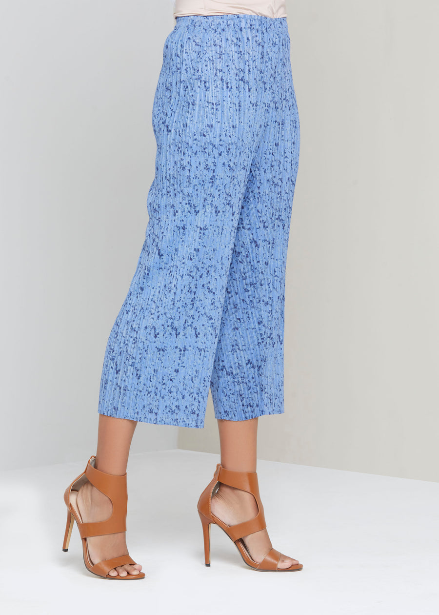 Marbled Culottes - Blue