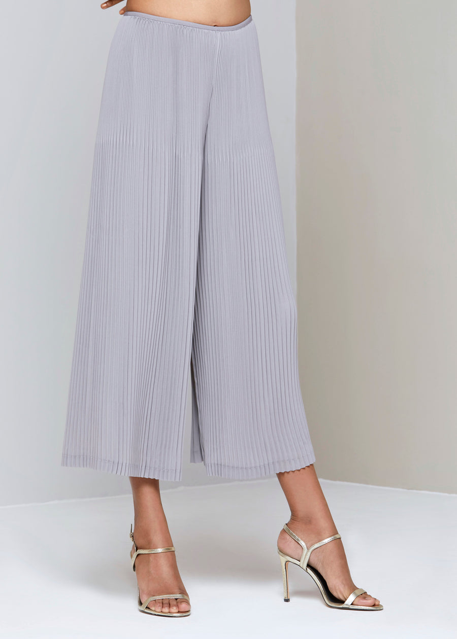 Pleated Lounge Pants - Light Grey