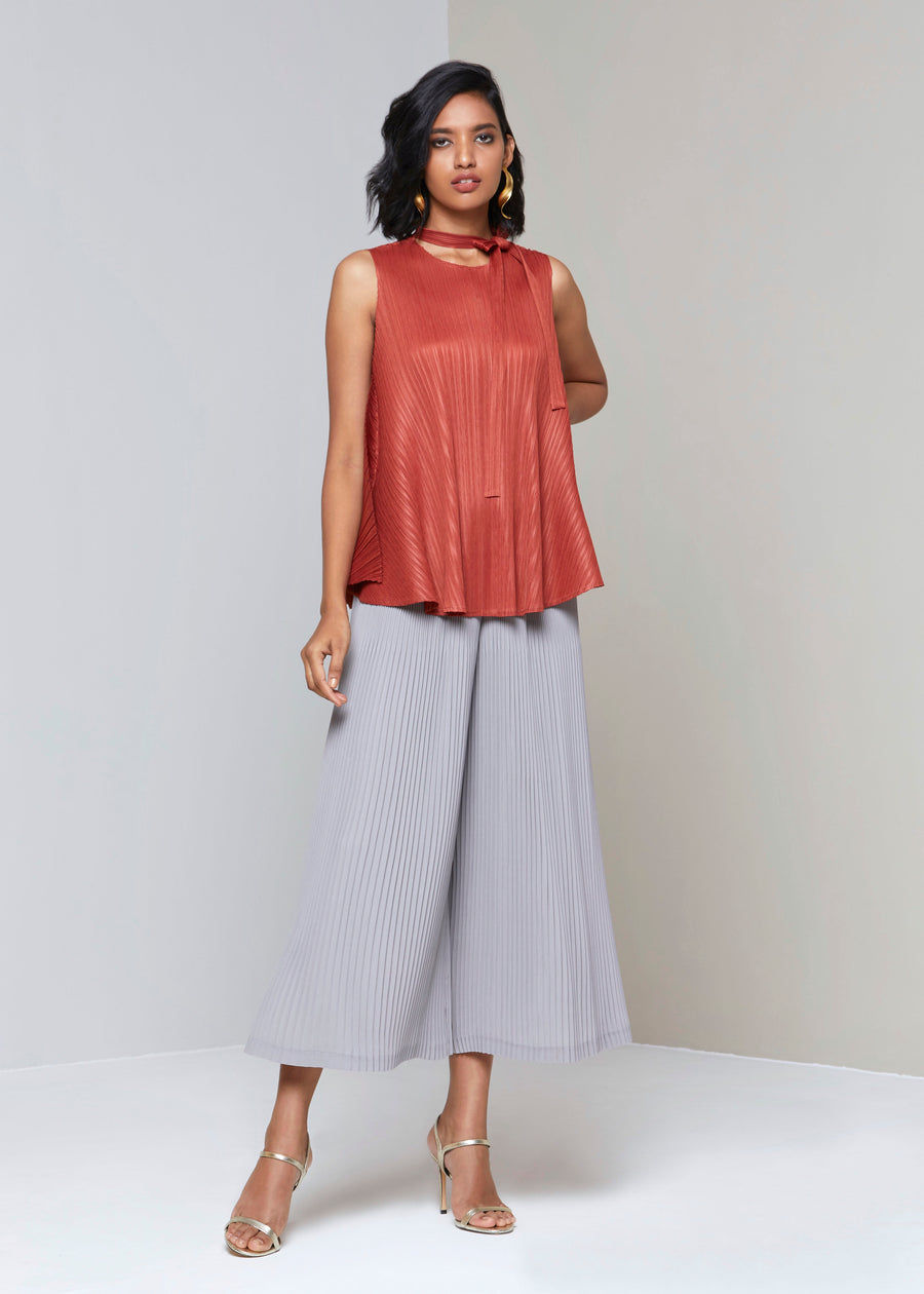 Pleated Top Scarlet Sage