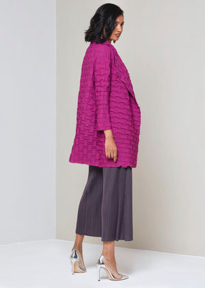 Cube Pleated Jacket - Magenta