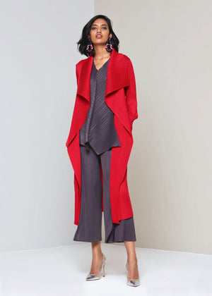 Pleated Overlay - Red