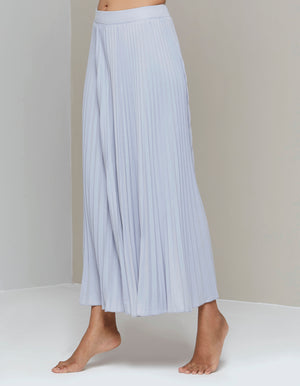 Arianna Wide Pleats Flair Pants - Light Grey