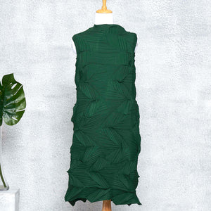 3D Sleeveless Dress - Dark Green