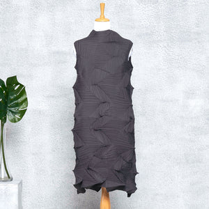 3D Sleeveless Dress - Dark Grey