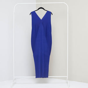 Sleevless Kimono Dress - Royal Blue