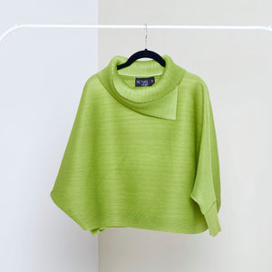 Batwing Turtleneck Top - Pear Green