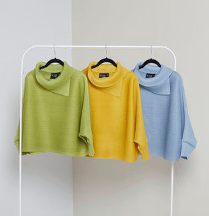 Batwing Turtleneck Top - Yellow