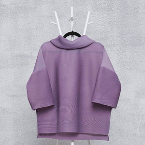 Turtleneck Box Sleeve Top - Lavender