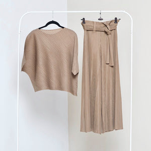 Cora Co-ord Set - Taupe