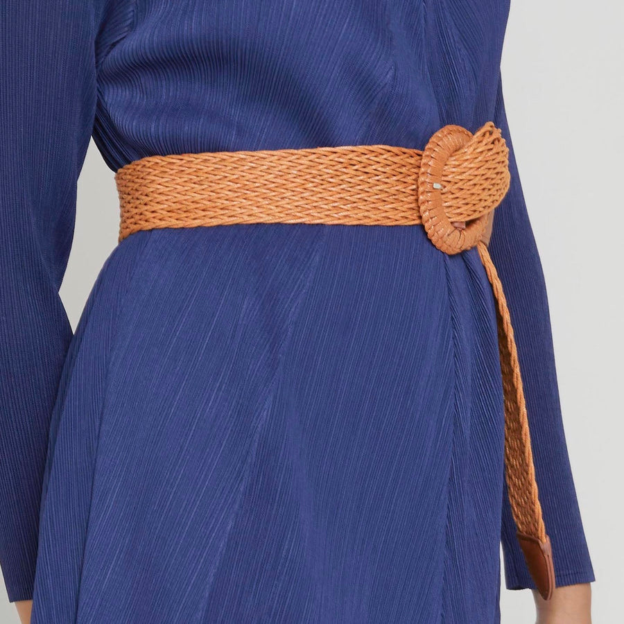 Soft Cord Weave Belt - Tan