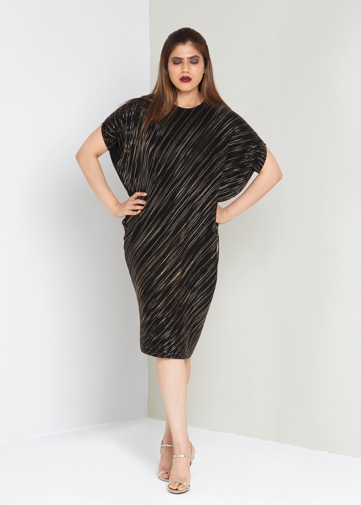 Aurelia Dress  Black & Gold