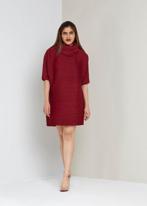 Batwing Dress - Dark Red