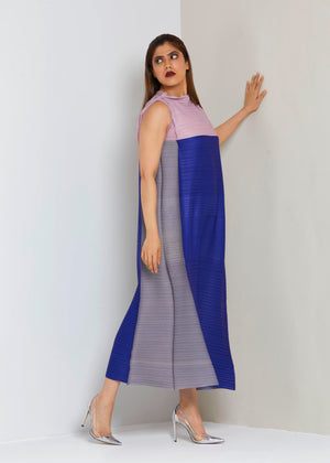 Daenerys Dress - Mauve Blue and Grey