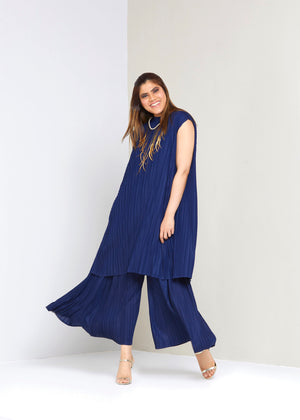 Long Tunic Co-ord Set - Navy