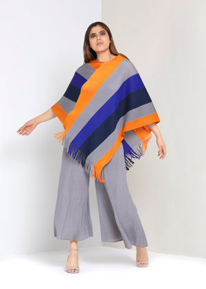 Poncho Set - Grey