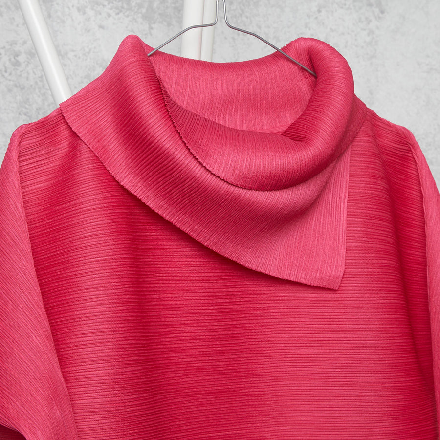 3/4th Sleeve Turtle Neck - Fuschia