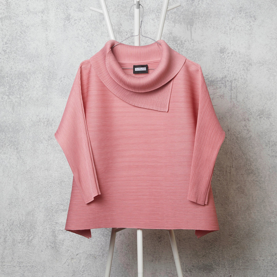 3/4th Sleeve Turtle Neck - Pink