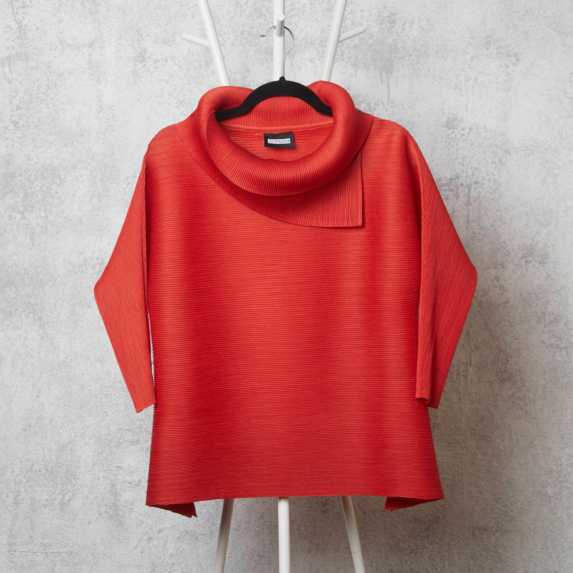 3/4th Sleeve Turtle Neck - TomatoRed