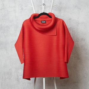 3/4 Sleeve Turtle Neck - TomatoRed
