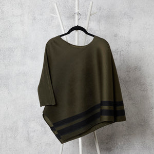 Stripe Top - Olive Black