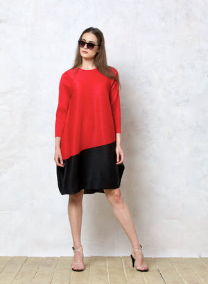 Tunic Dress - Red & Black