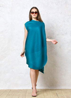 Cape Style, Bias Drape Dress - Light Blue
