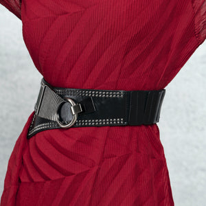 Overlap Rivet Belt - Black