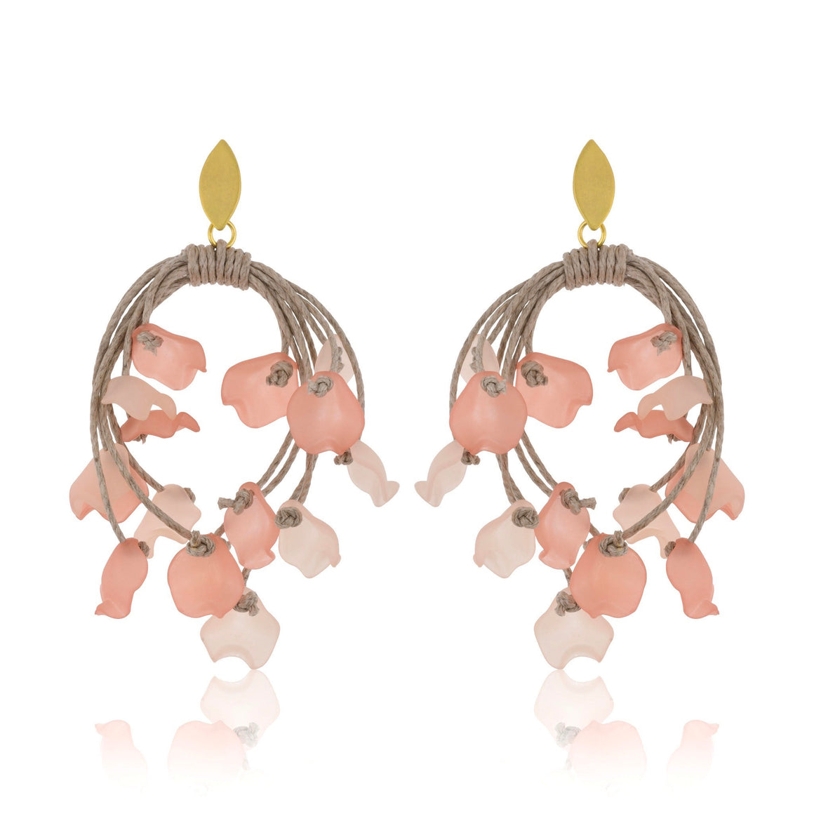 The Floral Dispersion Earrings - Pink