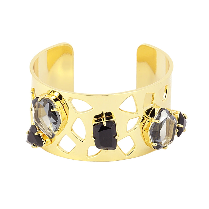 The Jewelled Cuff - Black
