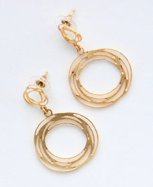 Turbulence Earrings - Gold