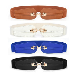 Twin Buckle Belt - White