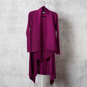 Pleated Waterfall Overlay Magenta