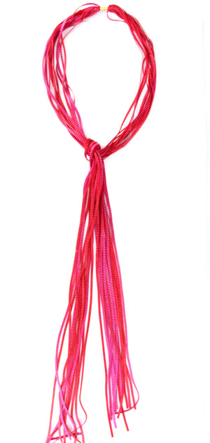 Waterfall Necklace - Pink & Red