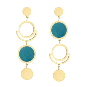 The Asymmetric Pendulum Earrings Teal