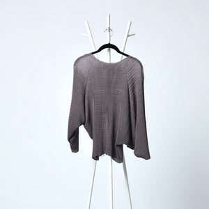 Beryl Sheer Batwing Top - Grey