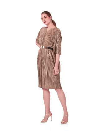 Cleopatra Dress - Metallic Rose Gold